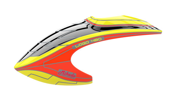 haube logo 480 neon gelb rot ersatzteile chassis logo. Black Bedroom Furniture Sets. Home Design Ideas