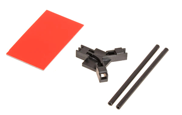 Antenna support flat mounting, black