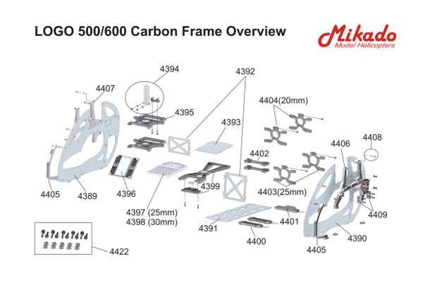 LOGO 500//600 Carbon Sideframe right